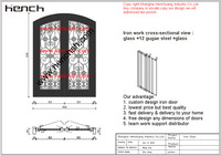 Hench Private Design Luxury Villa Wrought Iron Entry Doors V T10