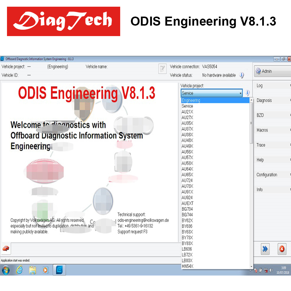 Newest ODIS Engineering V8.1.3+ERWIN Flash+License For VAS 5054A And VAS6154 ODIS-E V8.13 Diagnostic Software k e weigers creating a software engineering culture