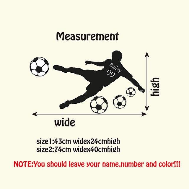 319b1062ca209 Palavra Mapa da Bola de Futebol Personalizado Nome   Número de Vinil  Decalque da parede da