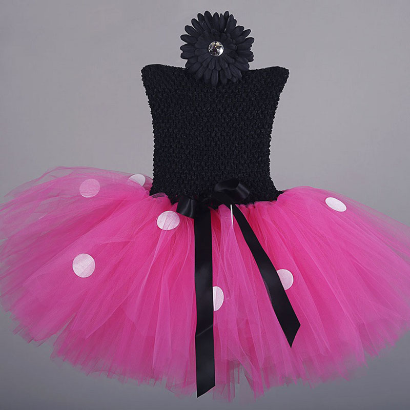 Minnie Mouse Dress Girls Clothes Polka Dot Sleeveless Tutu Dress Pageant Birthday Party Carnival Princess Costumes Dresses simba пупс minnie mouse