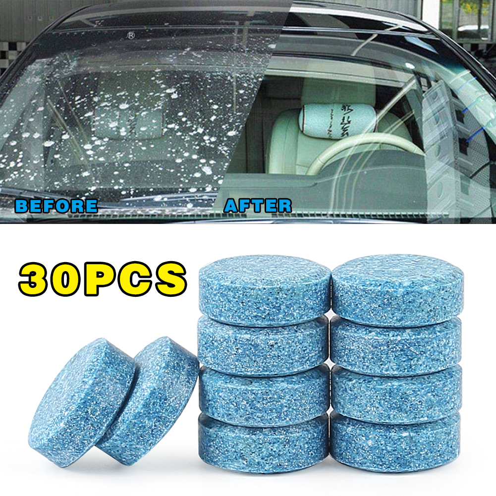 30PCS/Pack Car Windshield Glass Cleaner Car Solid Tablets Wiper Fine Wiper Auto Window Cleaning Car Accessories Hot Sale TSLM1