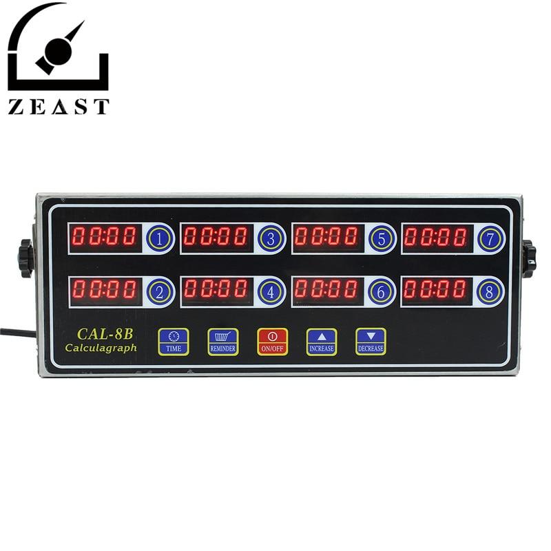Minuterie noire 8 canaux CAL-8B numérique Burger panier secouant le chronométrage 3 étapes rappel anneau volume réglable
