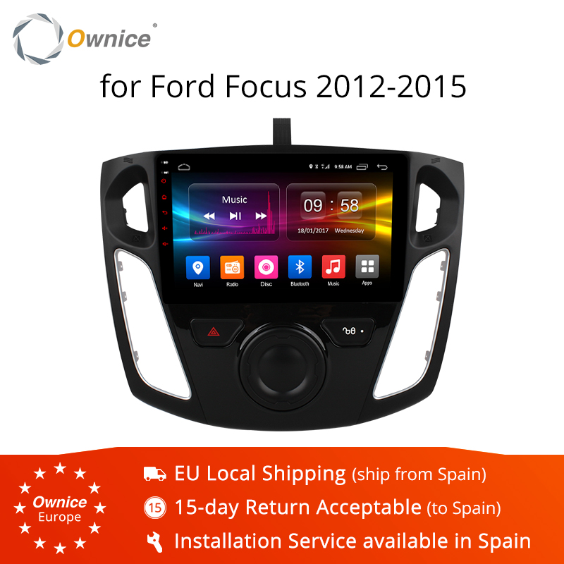 Ownice K1 K2 K3 3 Android 9.0 player de rádio de Carro GPS Para ford focus 2012 2013 2014 2015 Núcleo octa suporte DVD 4 16 2 GB de RAM GB ROM G