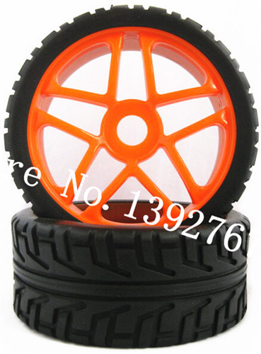 2Pcs RC Buggy Tire HSP 100mm*43mm Hexagon Adapter 17mm 1/8 Nitro Power Remote Control Car Rubber Tyre Tires & Wheel Rim Complete