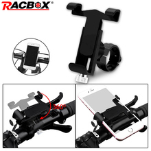 Racbox Mobile Phone Holder Stands For Bicycle Motorcycle Universal Handlebar Cell Stand Mount Bracket iPhone X Xiaomi