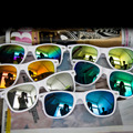 2016 Nova Mulheres Homens Retro Dos óculos de Sol Do Vintage Espelho óculos de sol óculos Atacado