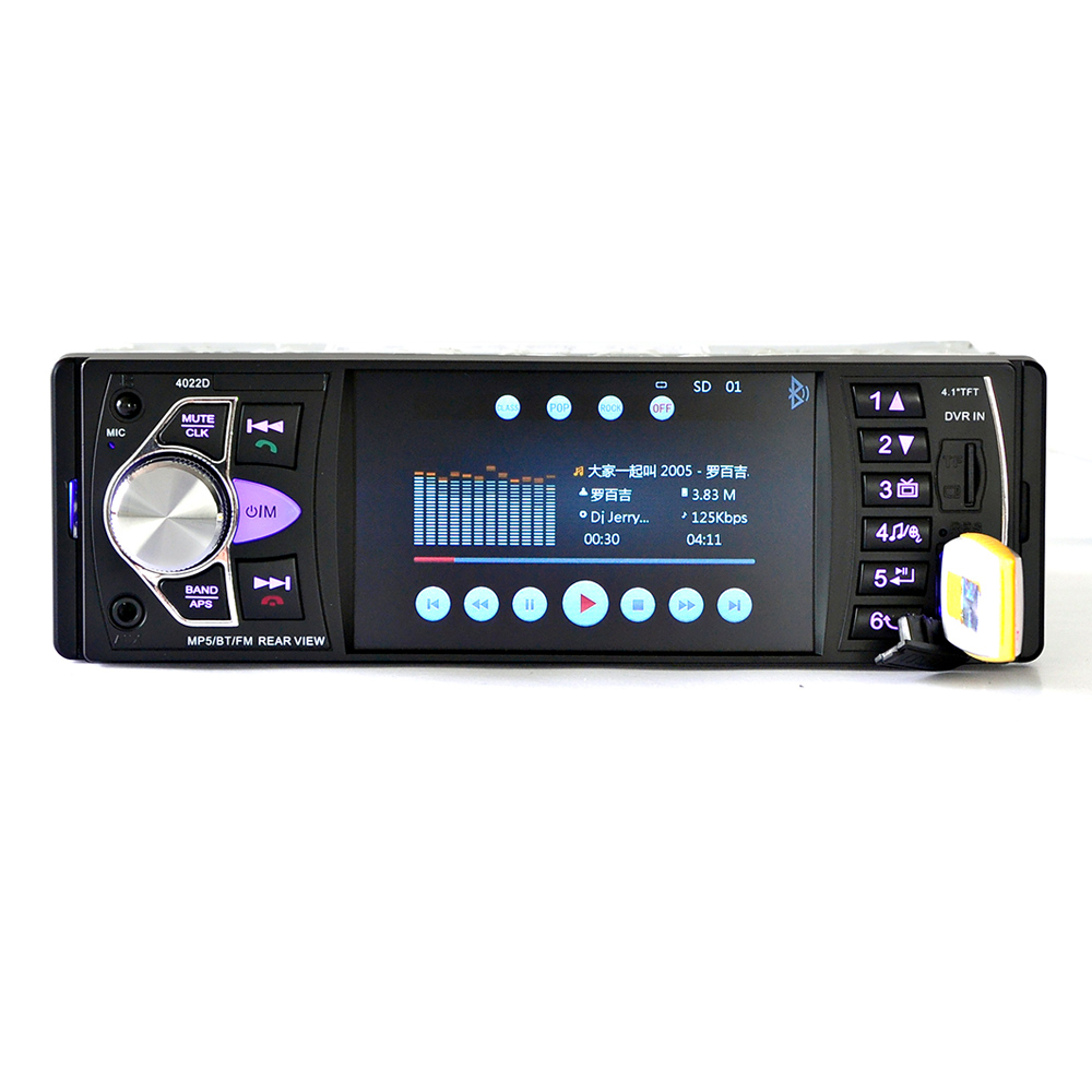 "Image 2 - 4022D  4.1"" TFT HD Digital Car MP5 Player Car MP5Player In Dash Universal Auto Radio Stereo Car Audio Video Multimedia Player-in Car Radios from Automobiles & Motorcycles"