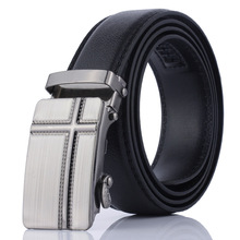 New belt Mens PU leather gift small automatic buckle Men wild casual