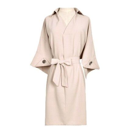 Flare Robes light Soie Élégant Holiday Robe De Mousseline Mini Lx1749 Cou Femmes Green Beach Coréen 2018 V Sleve En Ayunsue D'été Filles Portent Biege 7TPYWW