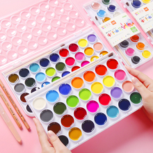 Solid watercolor 12/16/28/36 color paint painting beginner children art supplies