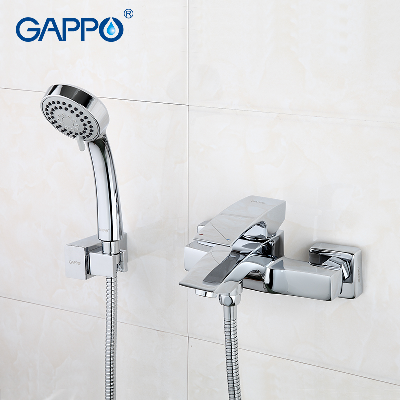 GAPPO Bathroom Faucet Accessories faucet Brass body bathtub sink mixer Cold Hot water restroom faucet in hand shower G3007  смеситель gappo g3007 5