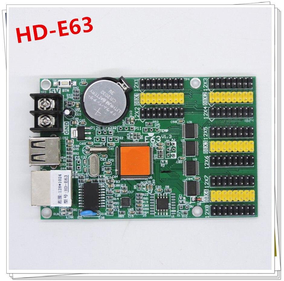 E63 HD E63 (Замена старой версии E41 HD E41) один и двойной цвет трехцветный СВЕТОДИОДНЫЙ Знак карты huidu контроллер светодиодного знака