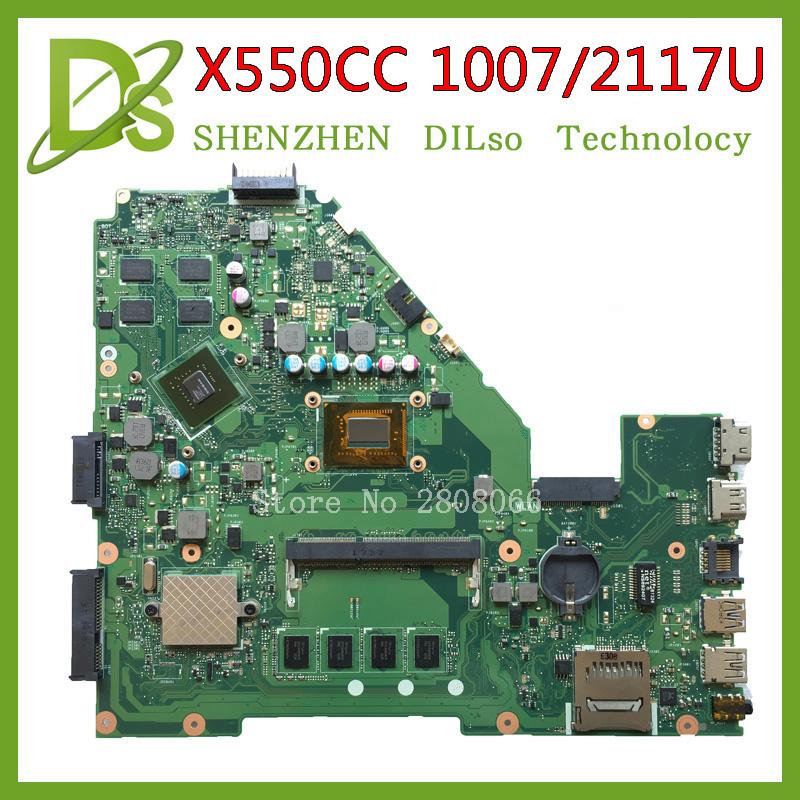 KEFU X550CC motherboard For ASUS X550CC X550CL Laptop motherboard Y581C 1007u/2117u original mainboard REV2.0 PM 100% tested ytai 1007u processor for asus x200ca laptop motherboard hm70 usb3 0 rev 2 1 with 1007u 4g ram mainboard fully tested