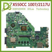 KEFU X550CC motherboard For ASUS X550CC X550CL Laptop motherboard Y581C 1007u/2117u  original mainboard REV2.0 PM 100% tested