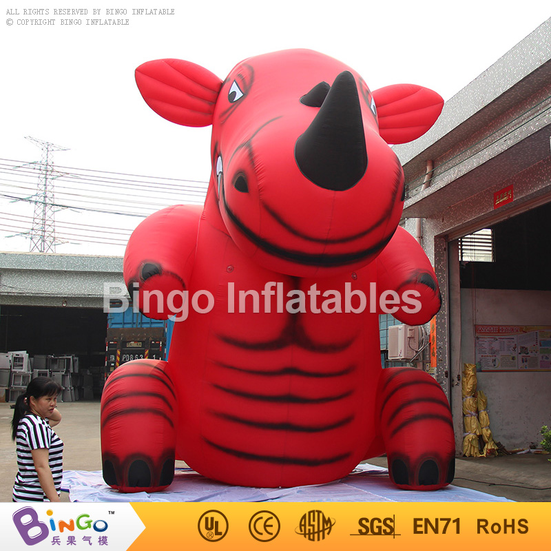 Giant Inflatable Rhinoceros Model Inflatable Animal 6M/20ft Inflatable Rhino Cartoon Character for Advertising Cartoon Toys inflatable cartoon customized advertising giant christmas inflatable santa claus for christmas outdoor decoration