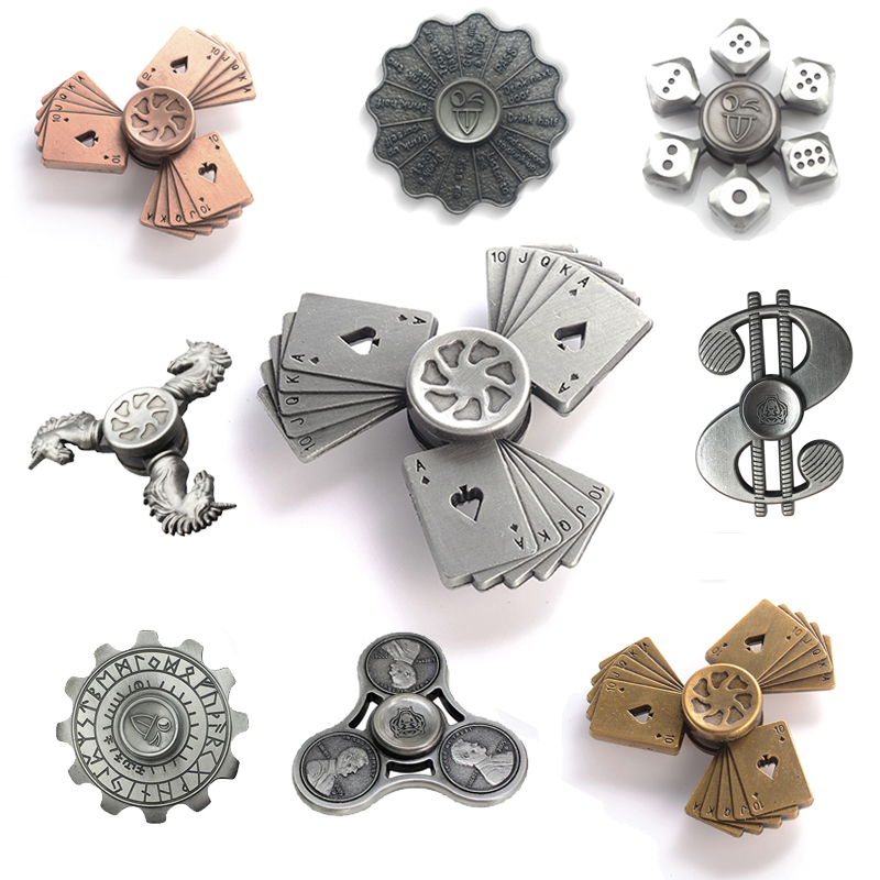 Ancient Fidget Spinner Finger ABS EDC Hand Spinner Tri For Kids Autism ADHD Anxiety Stress Relief Focus Handspinner Toys fidget hand spinner brass metal edc finger spinner anti stress hand spinner for autism adhd toys gift spinning top