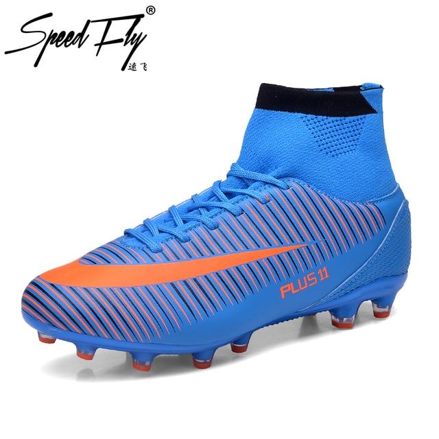 Speedfly nueva llegada fútbol Botas FG alta tobillo Superfly Zapatillas de  Soccer TF niños fútbol sala 7b90dd878cf6c