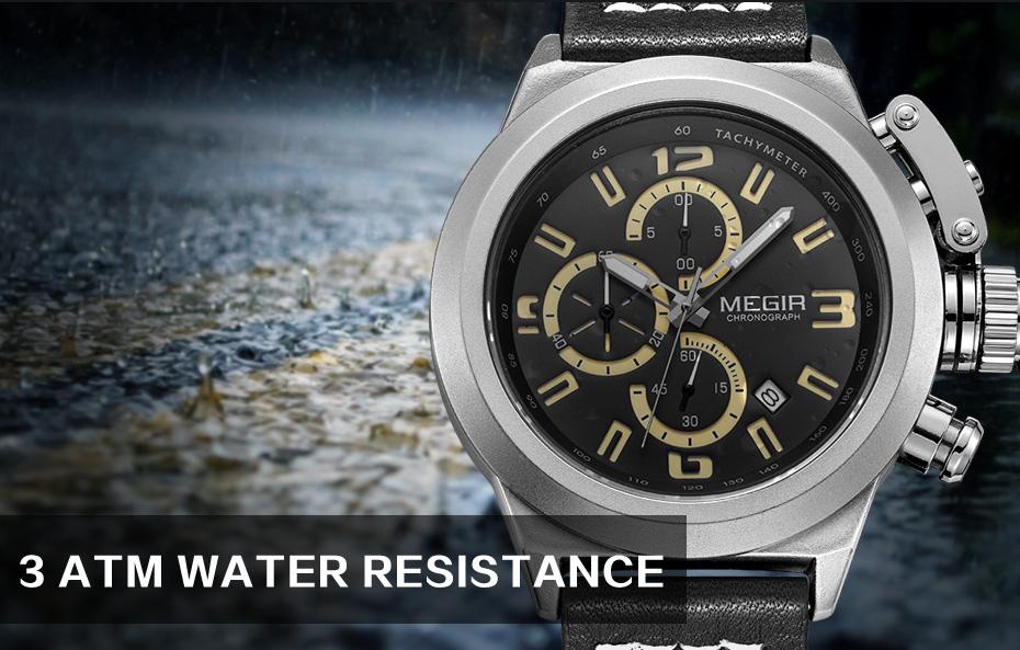 Topdudes.com - MEGIR Multifunctional Luminous Quartz Chronograph Wrist Watch