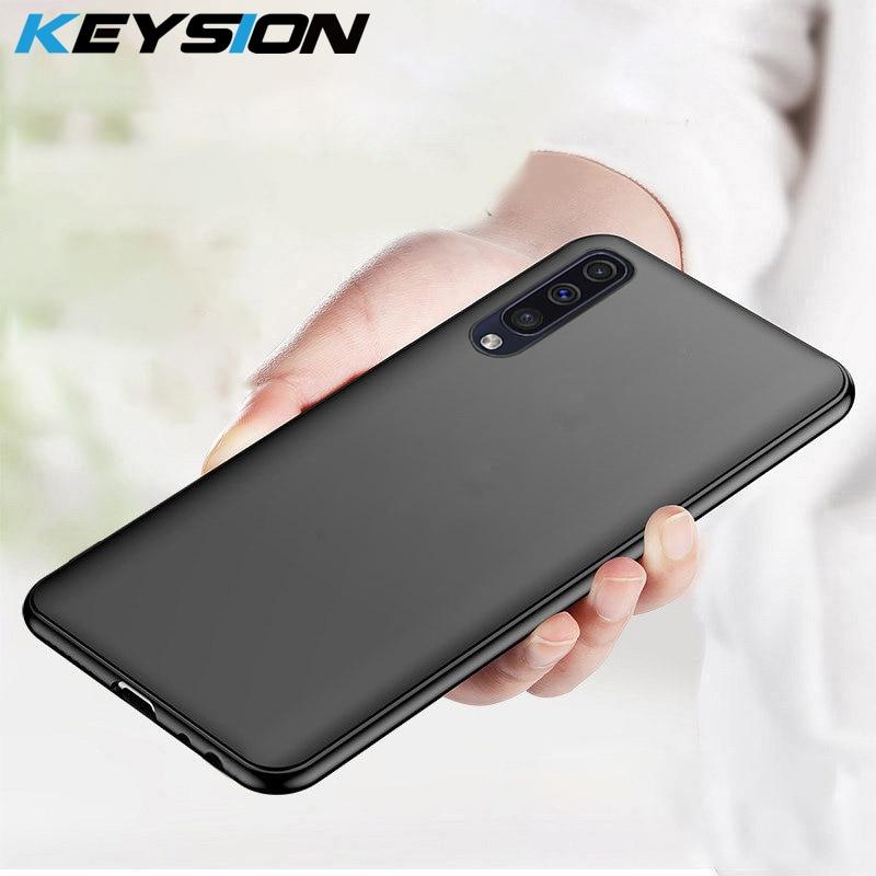 KEYSION Matte Case For Samsung Galaxy A50 A30 A20 A10 A70 Soft TPU Silicone Bumper Ultra Thin Back Cover For Samsung Galaxy A50