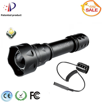 UniqueFire T20 XML T6 LED Flashlight + Rat Tail Switch Remote Control 1200 High Lumens 10W Powerful Lampe Torch