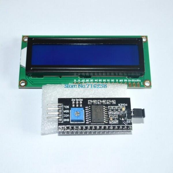 1602 16x2 HD44780 Character LCD /w IIC/I2C Serial Interface Adapter Module