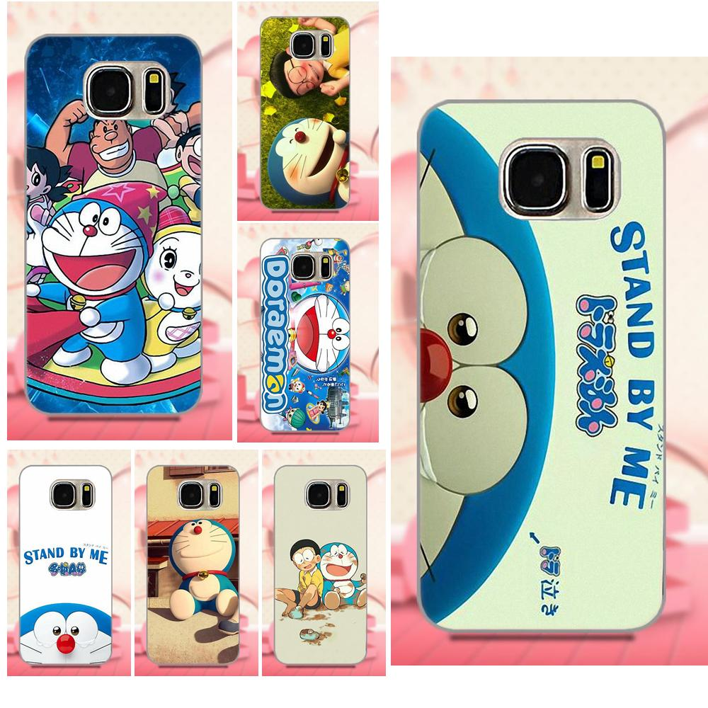 For Samsung Galaxy A3 A5 A7 J1 J3 J5 J7 S5 S6 S7 S8 S9 edge Plus 2016 2017 Style Design Cell Phone Case Stand By Me Doraemon