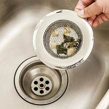 1PC Stainless Steel Mesh Sink Strainer Trap Bath Hair Drain Hole Metal Flume Filter(China)