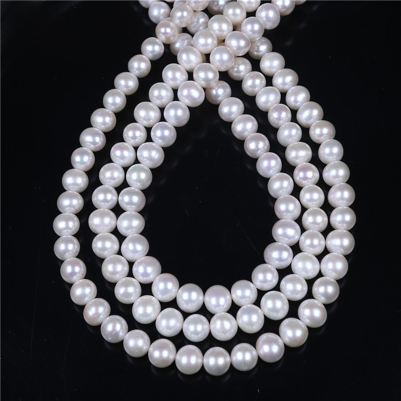 DIY AA Wholesale White Freshwater Potato Near Round Oval Pearl 9-10mm Loose Beads 16'' For Jewelry Making недорго, оригинальная цена