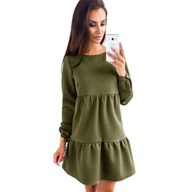 2019 New Arrive <font><b>Women</b></font> <font><b>Dress</b></font> Autumn And Winter Fashion Long Sleeve <font><b>Dresses</b></font> <font><b>Blue</b></font> <font><b>Pink</b></font> ArmyGreen <font><b>Womens</b></font> Clothing <font><b>Sexy</b></font> <font><b>Dress</b></font> image