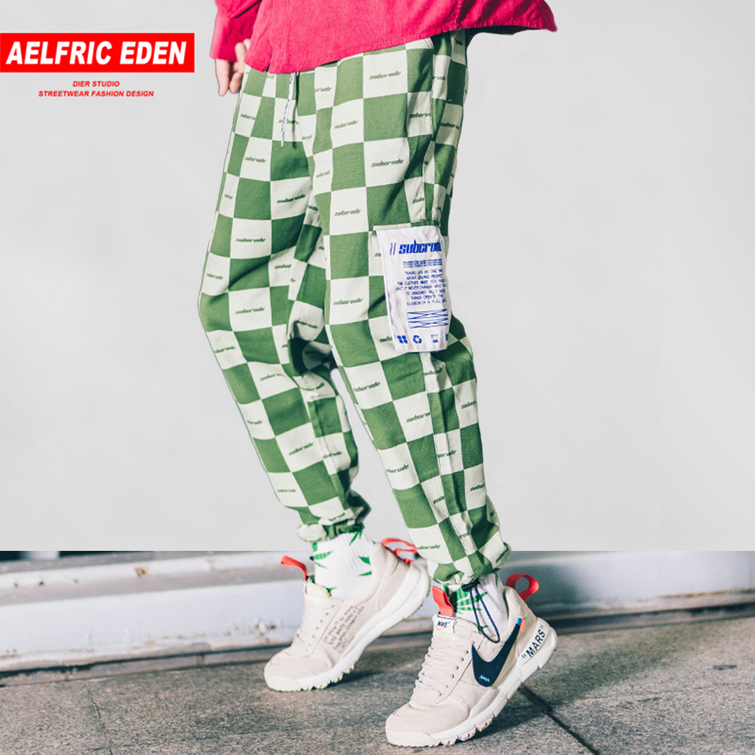 Harem Pants Patch Aelfric Eden Joggers Streetwear Color-Block Hip-Hop Vintage Casual