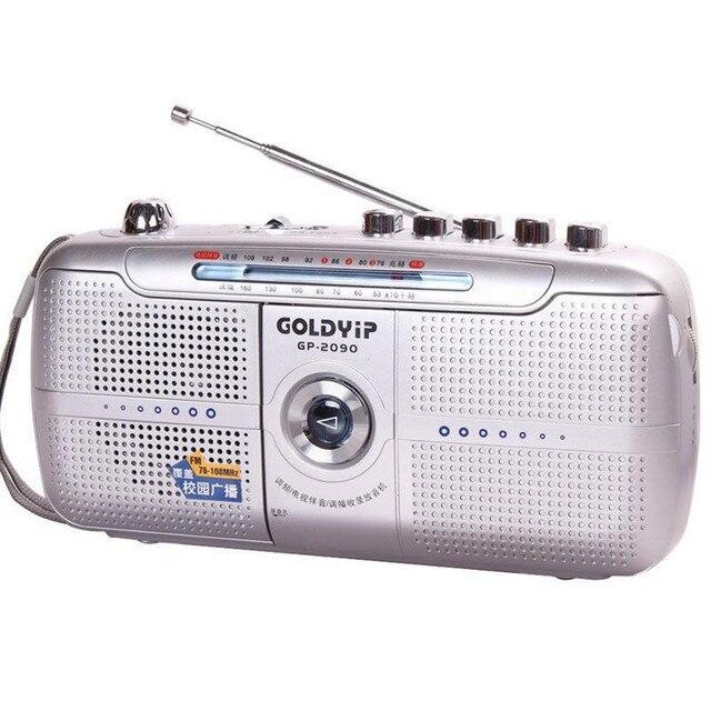 Goldyip/пожилых full band портативный Частота recorder Модуляция Радио FM магнитофон Цифровой Мир Приемник и Внешних Антенн