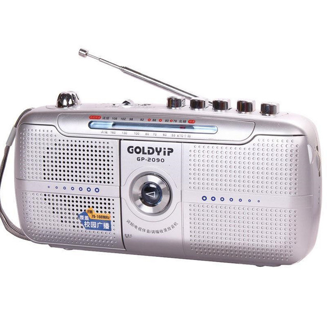Goldyip / elderly full band portable Frequency recorder Modulation Radio FM Tape player Digital World Receiver & External Antenn