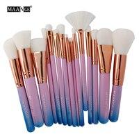 Best Deal New 15pcs Cosmetic Makeup Brush Blusher Eye Shadow Brushes Set Professional Foundation Brushes Beauty