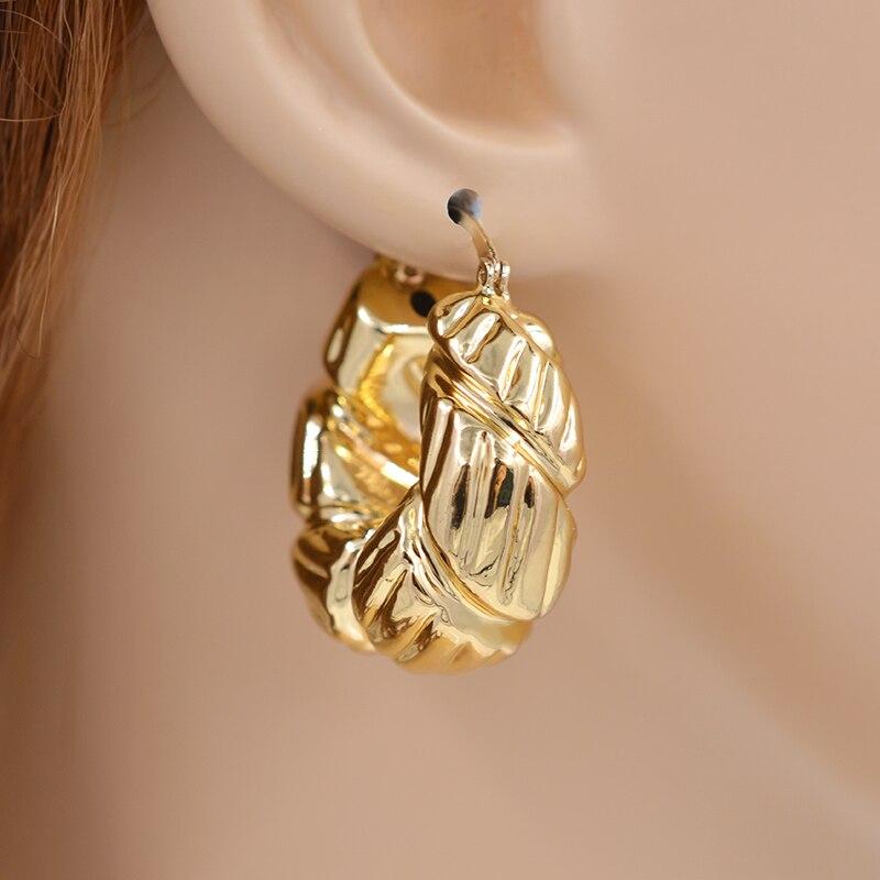 Sunny Jewelry Big Hoop Earrings For Women Copper High
