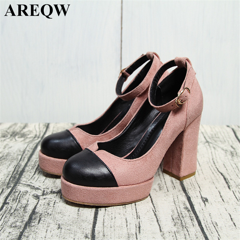 2017 spring new Korean version of the high-heeled waterproof with the word buckle single shoes wild shallow mouth color fight re probrico 30 pcs black cabinet handle 12mm 12mm square bar stainless steel kitchen door knob furniture drawer pull pddjs12hbk
