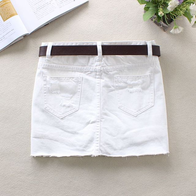 White Jeans Skirts 1