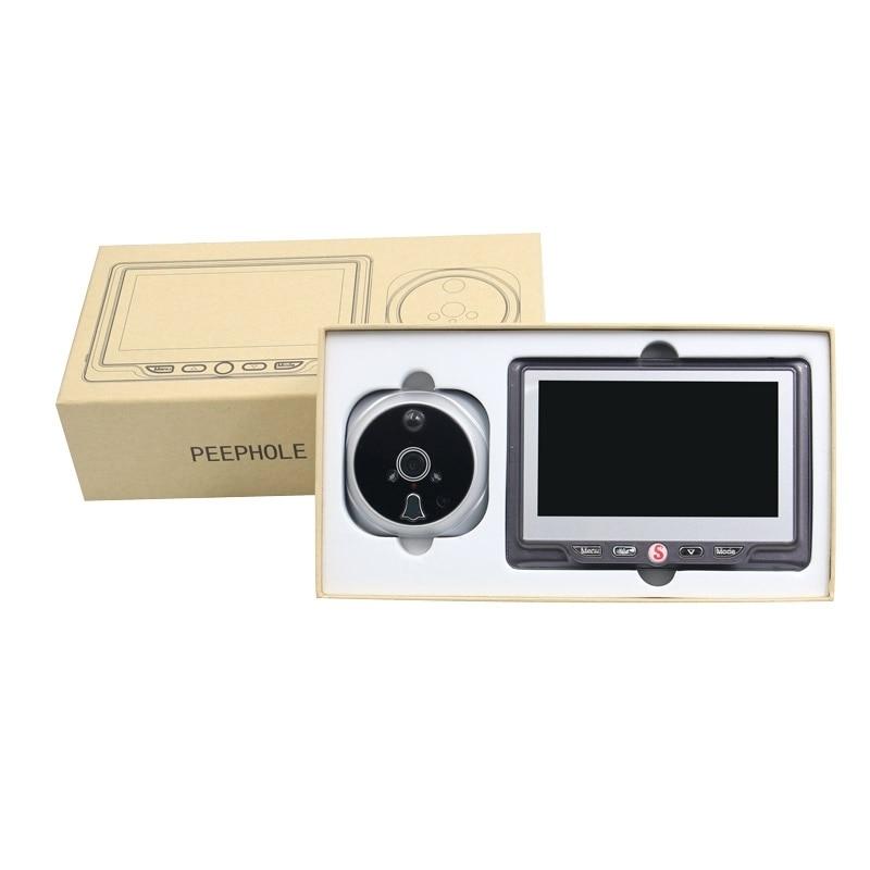 Saful 4.3 дюймов ЖК-монитор визуальный двери глазок камеры цифровой двери глазок Серебряный видео глаз камера ночного видения