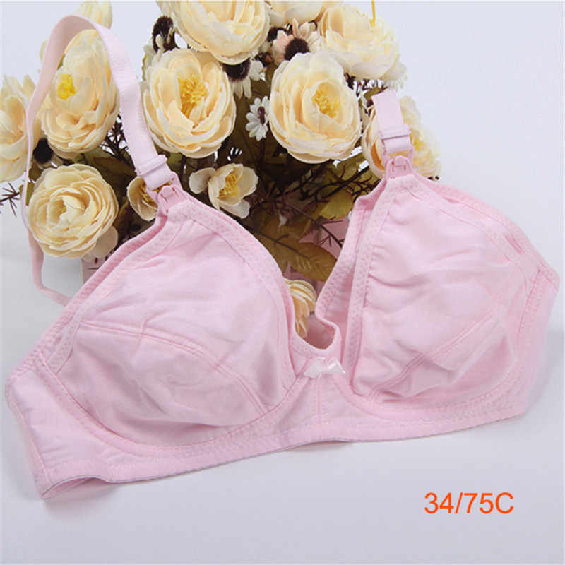 7b1a4bdc2f738 ... Women Breastfeeding Maternity Bra Plus Size Nursing Seamless Bra Cup C  Cotton Lingerie Wire Free Bras ...