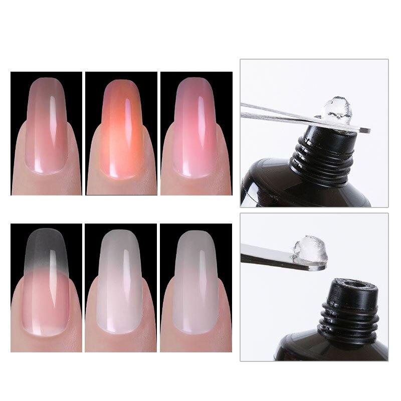 Ladymisty Poly Gel Set UV Acryl Clear Builder Gel Fast Dry Nail Art ...