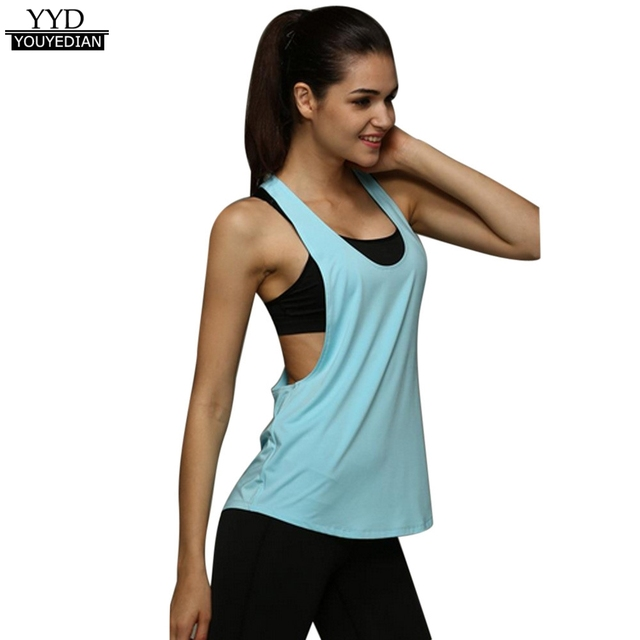 Tshirt Summer Style 2016 Sexy Quick Dry FitnessTank Tops Women Summer Workout Gmy T Shirt Women Clothes Cropped Feminino
