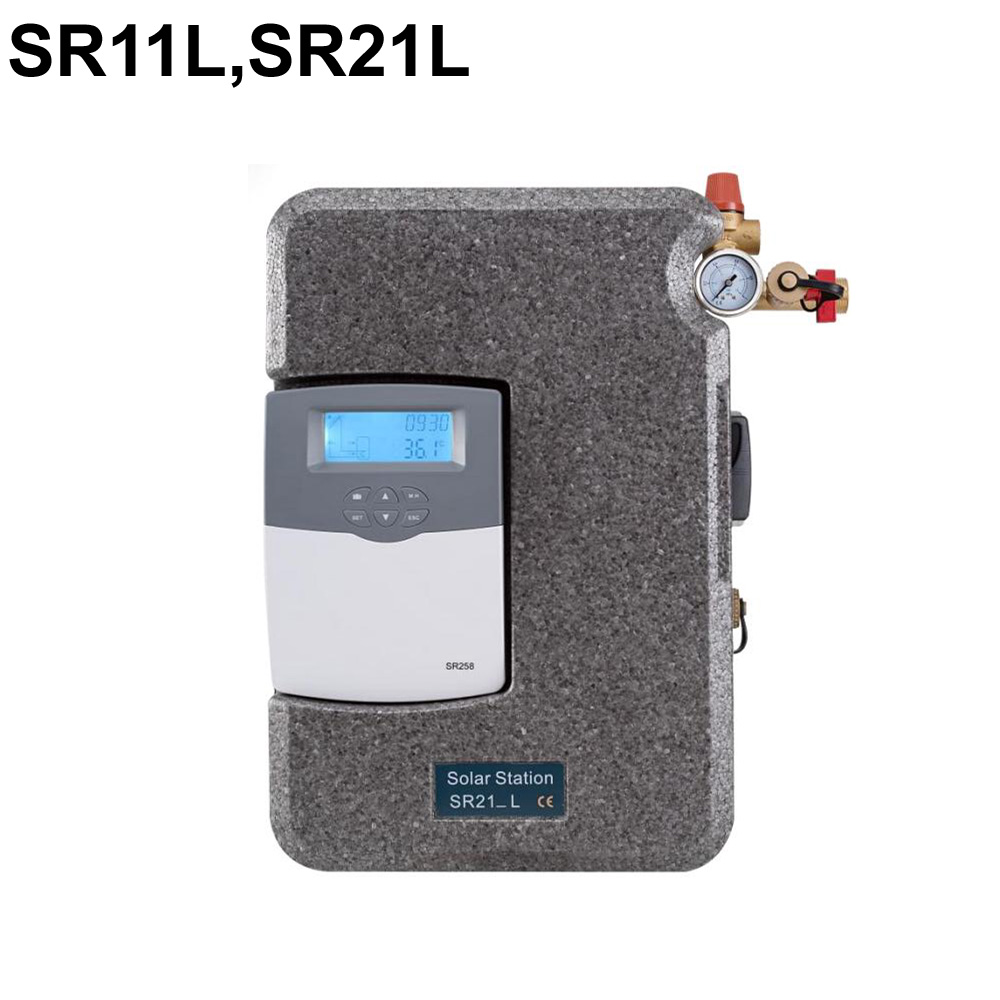 SR11L SR21L Series Solar Hot Water Pump Station with Integrated controller SR258 Max permitted pressure 6
