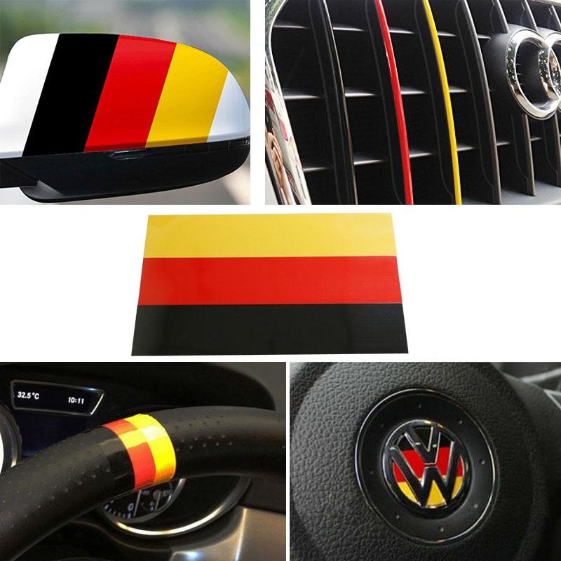 1 10 Germany Flag In Car Sticker Stripe Decal For Euro Car Audi Bmw