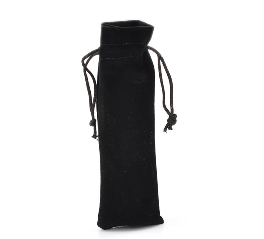 DoreenBeads 10PCs Black Velvet Drawstring Pouches Jewelry Gift Bags 15cm X 5cm(5 7/8