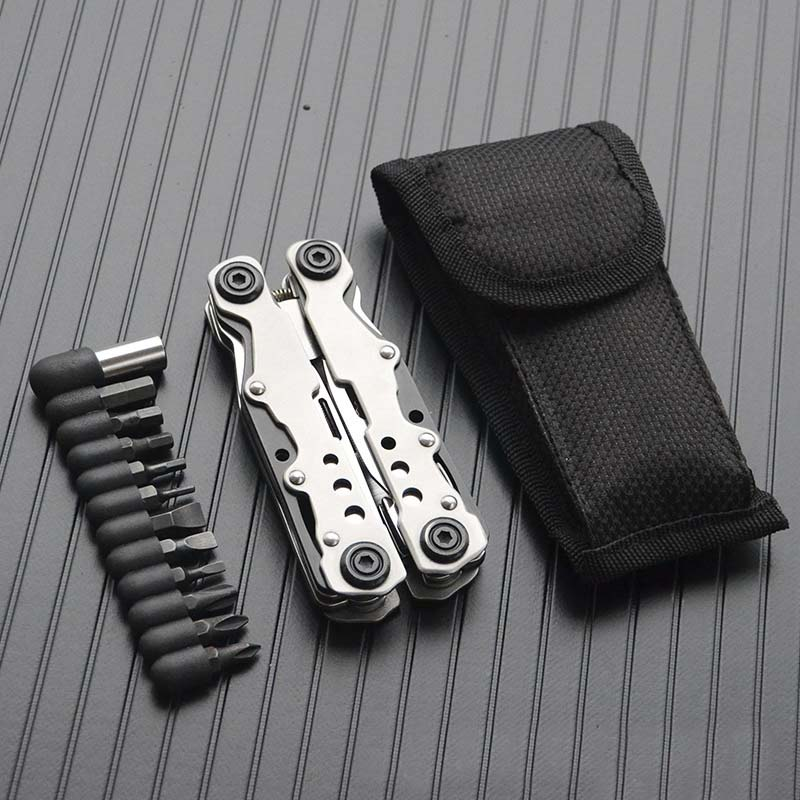 New Pocket Foldable Stainless Steel Plier Screwdriver File Bottle Opener Tactical Tools Defensa Personal Survival Emergency Kits
