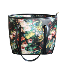 KEYTREND Women Shoulder Handbags New Colorful Flower Printed Large Capacity PU Casual Totes Wife Gift For Mother's Day KSB267