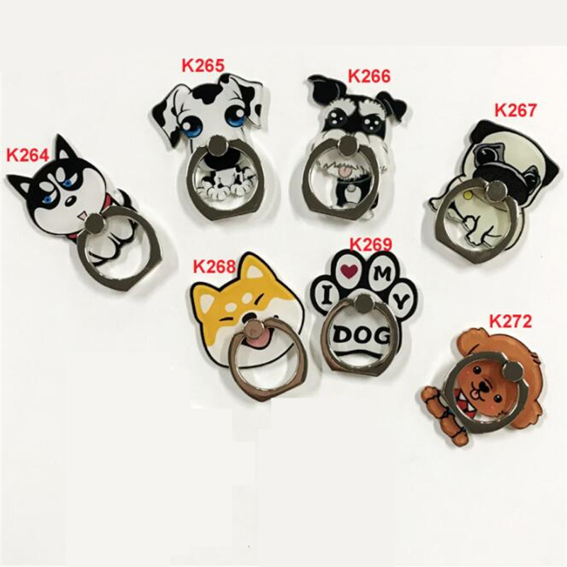 UVR 360 Degree Finger Ring Dog Animal Akita Stand Holder Mobile Phone Holder Stand For iPhone Xiaomi Huawei All Phone Собака