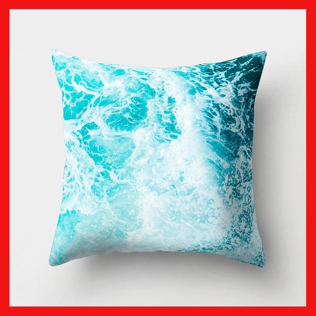 1 pz Ocean Sea Blu Modello In Poliestere Coperte e Plaid Cuscino Soggiorno Foder
