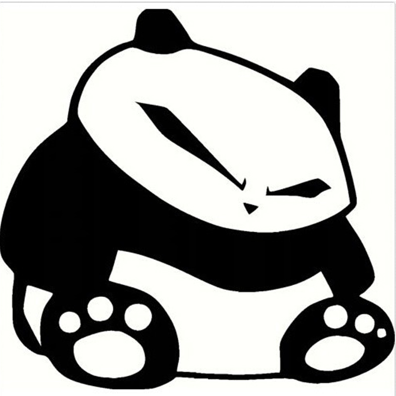 100 pieces lot wholesale funny panda jdm vinyl stickers decals for car auto truck car window stickers car styling in car stickers from automobiles