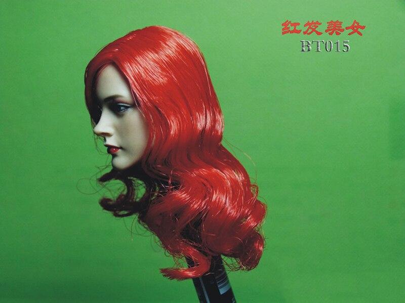 """BELET 1//6 FEMALE HEADSCULPT W//RED HAIR FOR 12/"""" PHICEN TTM FIGURE BODY BT015"""