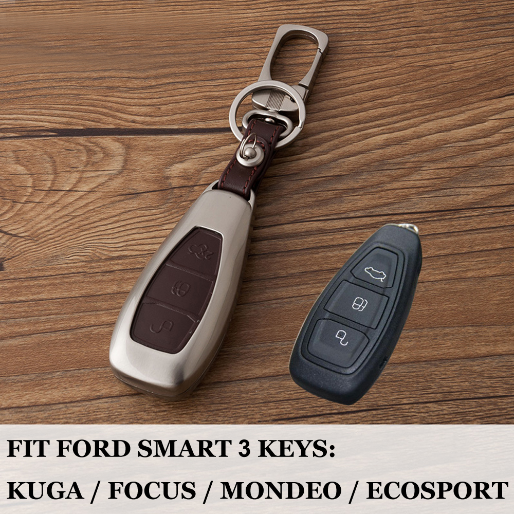 High grade zinc alloy leather Key Smart Remote Key Case Cover for Ford Fiesta Focus 3 4 MK3 MK4 Mondeo Ecosport Kuga Focus ST